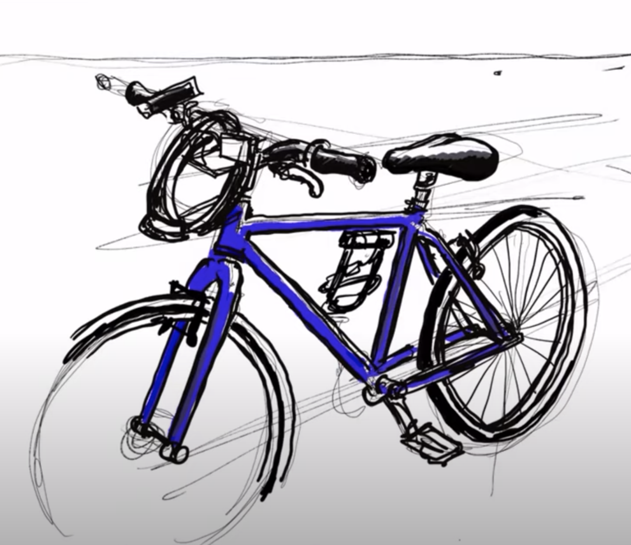 Image of bike drawn by Pete Scully.